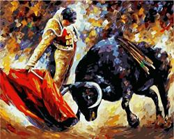 Hcffch Diy Bullfighter Figure Diy Digital Painting By Numbers Modern Wall Art Canvas Painting Christmas Unique Gift Home Decor 40X50CM