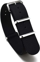 Nato Skull 20MM Nato Watch Band Strap With Stainless Steel Buckles In Black