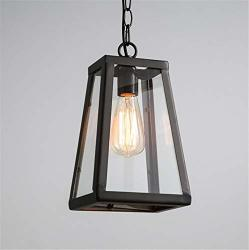 Xyjgwdd Chandelier Industrial Vintage Style Pendant Lighting Glass Shade Hanging Light For Laundry Room Living Room Cafe Bar