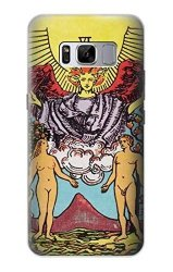 R2763 Lovers Tarot Card Case Cover For Samsung Galaxy S8