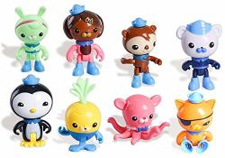 "2"" - 3"" 8PCS Cake Topper Toy Figures Play Set Peso Kwazii Captain Barnacles Figures Set"