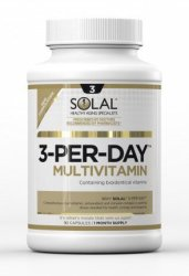 Solal Multivitamin 3-PER-DAY 90 Capsules