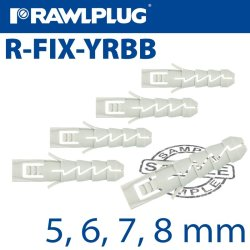 Rawlplug Nyl Expansion Plug Selection Bag Raw R-S1-FIX-YRBB