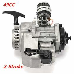 TFCFL 49CC 2 Stroke Pull Start Engine Starter Motor For Pocket Bike MINI Dirt Bike Atv Scooter Quad Bicycle Dirt Pit Bikes Automotive Replacement Engine Kits