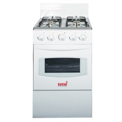 Totai 4 Burner Gas Stove + Oven with FFD in White