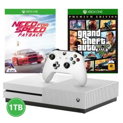 Xbox One S 1TB Console + Need For Speed Payback + Grand Theft Auto V Xbox One