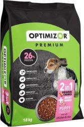 OptiMizor - Premium Dry Puppy Food - Milky Bones + Chicken & Rice 18KG