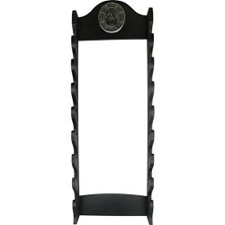 BladesUSA WS-8WX Sword Stand 8-TIERS Wall Mount Sword Stand With Samurai Logo