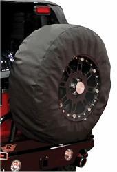 Rampage Products 783235 Universal Large Window Pane Tire Cover With 17 Diameter Window Black Diamond