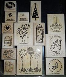 Stampin' Up Stampin' Up Wood Mounted Stamp - Tag Time - Set Of 14