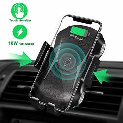 Wireless Charger Car Mount With Automatic Clamping Air Vent Qi Cell Phone Holder Smart Senor Fast Charging Compatible With Iphone Xs max x xr 8 8 Plus