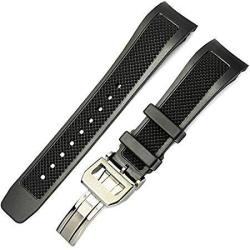 WATCH 22MM. Rubber Band Strap + Deploy Clasp Fit For Iw.c. Aquatimer. Portugies
