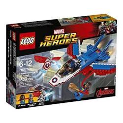 LEGO Super Heroes Captain America Jet Pursuit 76076 Building Kit 160 Pieces