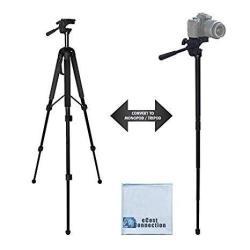 68 Elite Series Professional Heavy Duty Convertible Tripod monopod For Dslr Cameras & Camcorders + Ecost Microfiber Cloth