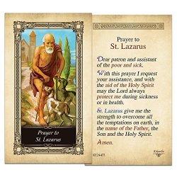 ShopCatholic St. Lazarus Laminated Holy Card