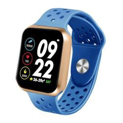 F8 Pro 1.3 Inch Touch Screen Smart Bracelet Support Sleep Monitor Blood Pressure Monitoring Blood Oxygen Monitoring Heart Rate Monitoring Shell Color:gold Blue