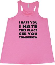Constantly Varied Women's I Hate You I Hate This Place See You Tom T XL Pink
