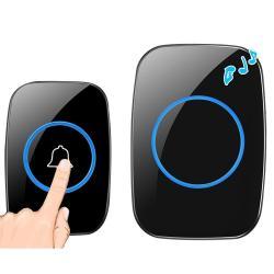 Cacazi A10 300M Long Range No Battery Waterproof LED Light Smart Wireless Doorbell Us Plug