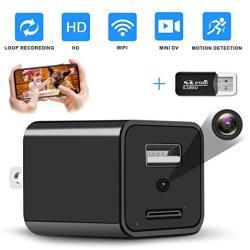 2019 Upgrade Spy Camera Wireless Hidden Wifi Camera With Remote View Hidden Spy Camera 1080P HD Nanny Cam Spy Hidden Camera Char