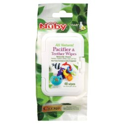 Nuby Citro Natural Soother & Teether Wipes 48'S