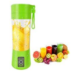 Portable Blender USB Juicer Cup Fruit Mixing Machine Rechargeable Bottle 380ML