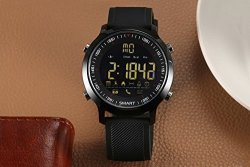 BOND EX18 IP67 Waterproof Smart Watch Support Call And Sms Alert Sports Activities Tracker Bluetooth Wristwatch For Ios Android Black