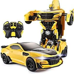 USA Aiojy Autobot Gesture Sensor Transformers Robot Hornet Autobot Remote Control Toy Car Racing Child Boy Toy Car New Year's For Children Rc Vehicle