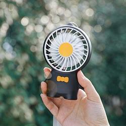 Lightinthebox MINI Fans Speed Adjustable Plastics On off Summer Handsize USB Charge Fan Black