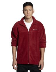 Columbia Men's Sportswear Columbia Men's Steens Mountain Full Zip 2.0 Soft Fleece Jacket Red Element Medium