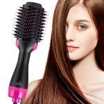 Hot Air Brush & Volumizer Hair Dryer & Curly Hair Comb One Step Ceramic Hot Air Brush 2-IN-1 Infrared Negative Iron Hot Air Comb