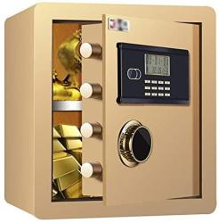 USA Zcf Security Safes MINI Safe Mechanical Security Safe Box Password Keypad Key Lock For Home Office Hotel Use Jewelry Cash Valuables Storage Color :