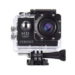 Vemont Action Camera 1080P 12MP Sports Camera Full HD 2.0 Inch Action Cam 30M 98FT Underwater Waterproof Camera With Mounting Ac