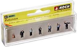 USA Noch 36091 Police Officers Blue 6 N Scale Figures