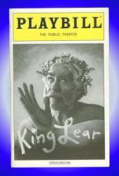 USA King Lear Off-broadway Playbill + Kevin Kline Michael Cerveris Larry Bryggman Paris Rose Yates Kristen Bush Angela Pierce Daniel Pierce