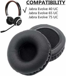 Pair 1 Of Ear Pads Cushion Cover Earpads Earmuff Replacement For Jabra Evolve 20 30 40 65 75 Headset