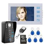 """7"""" Lcd Dvr Recording Rfid Password Video Door Phone Intercom Doorbell"""