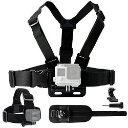 CamKix Body Mount Bundle For Gopro Hero 5 Black Session Hero 4 Session Black Silver Hero+ Lcd 3+ 3 2 1 Chest Harness Mount