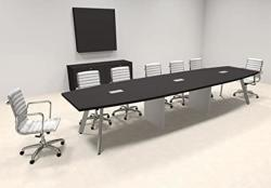 Modern Boat Shaped 14' Feet Conference Table OF-CON-CV27