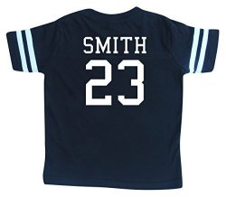 Custom Football Sport Jersey Toddler & Child Personalized With Name And Number 4T Black