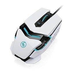 Kaliber Iogear Gaming Fokus Pro Laser Gaming Mouse White GME670