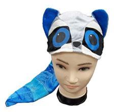 USA Goffa Raccoon Hat Plush Costume Blue