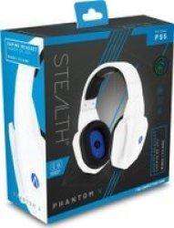 Phantom V Over-ear Stereo Gaming Headset For PS5 White