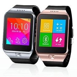 InDigi Swap One 2- In -1 Simcard Bluetooth Smartwatch -unlocked- At &t T-mobile