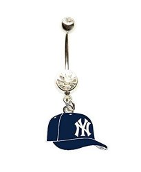 Heavens Jewelry Ny New York Yankees Baseball Cap Team Clear Navel Belly Button Ring Body Jewelry Piercing 14 Gauge R680 00 Fancy Dress Costumes