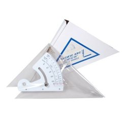 Pacific Arc Adjustable Acrylic Triangle Clear 8 In.