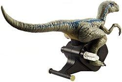 """Mattel Jurassic World Rip-run Dinos Velociraptor """"blue"""