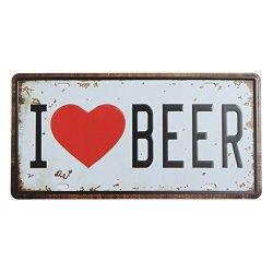 BephaMart Beer Plate Tin Sign Vintage Metal Plaque Poster Bar Pub Home Wall Decor