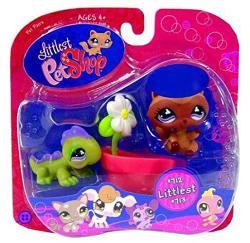 Littlest Pet Shop Littlest Iguana And Raccoon W Flower Pot 712 713