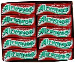 Yulo Toys Inc Airwaves Cherry Menthol Gum. Case Of 30 Packs