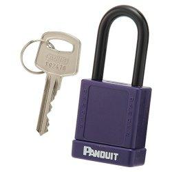 Panduit PSL-8PU Plastic Body Padlock Purple